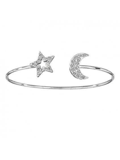 NNáramek Měsíc s hvězdou Swarovski® crystal