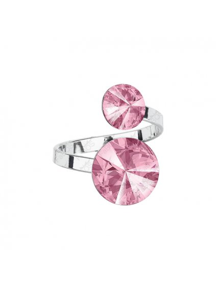 Prsten Rivoli Double Swarovski® Light Rose