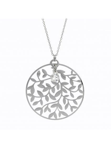 61300629cr Ocelový náhrdelník květ života
