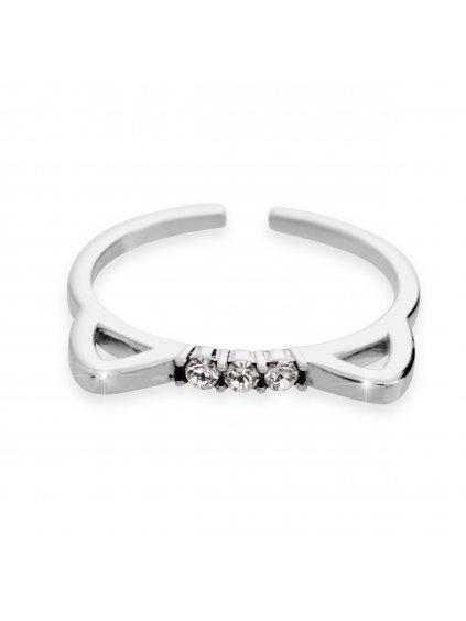 92700299crStříbrný prsten kočičí uši s kameny Swarovski