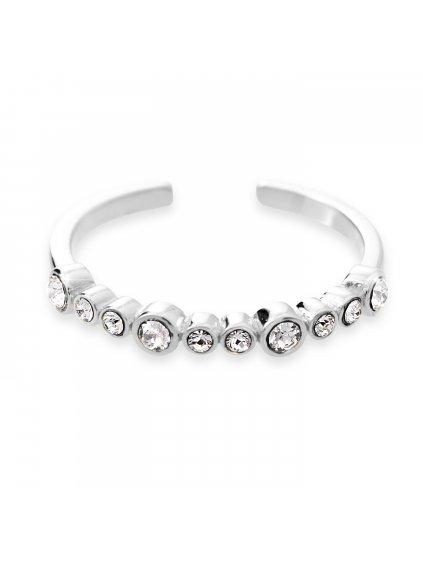 J92700302CRStříbrný prsten s řadou kamenů Swarovski Crystal