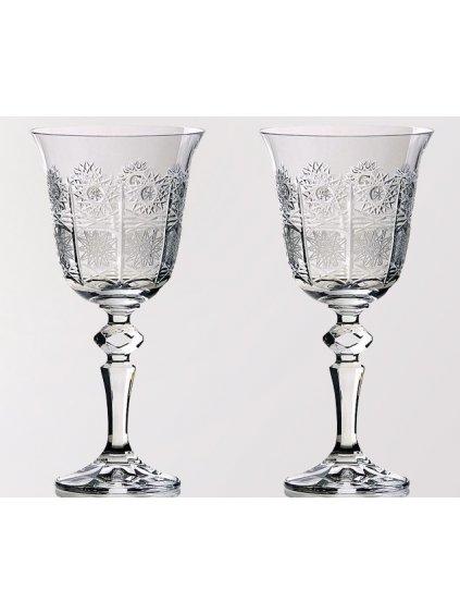 Křišťálové sklenice na víno 2 ks brus 170 ml