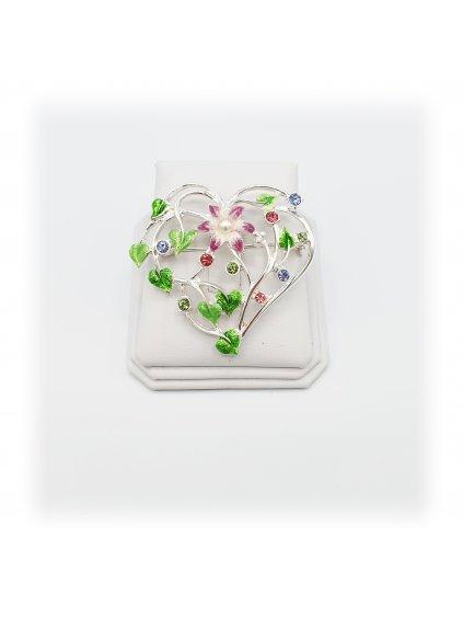 920155Brož Srdce růžové Swarovski® F7061-0008-02 920155