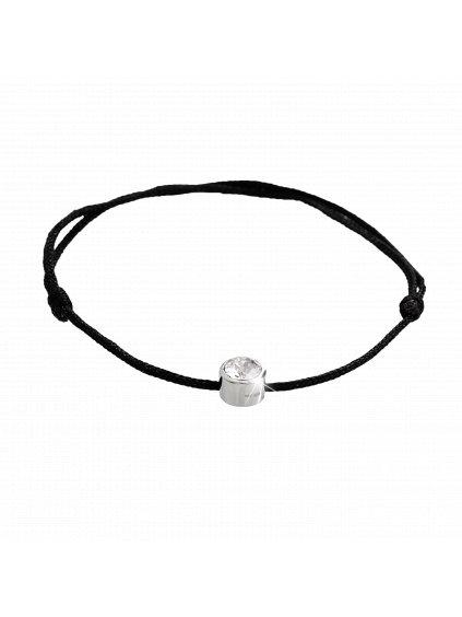 J92500271Stříbrný náramek šňůrka Swarovski crystal