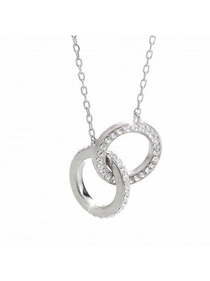 92300287cr Stříbrný náhrdelník  Swarovski pouto lásky