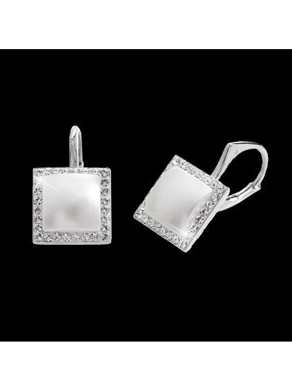 92400293whStříbrné náušnice perla osázená Swarovski kamínky