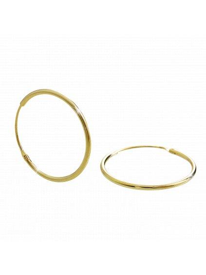 92400295gStříbrné náušnice kruhy gold