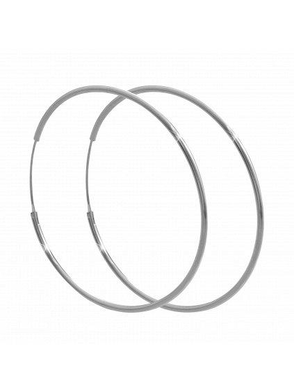 92400296crStříbrné velké náušničky kruhy