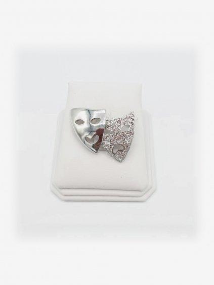 Brož Masky s kameny Swarovski® Crystal