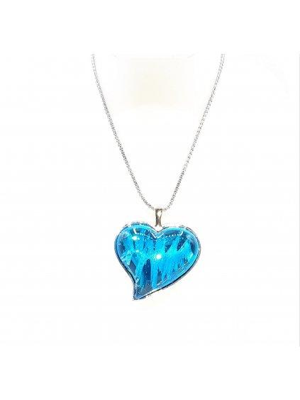 6404 nahrdelnik srdce swarovski blue