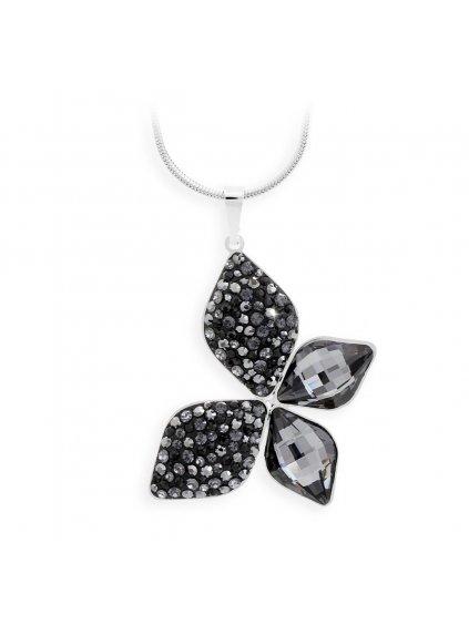 Náhrdelník Motýl s kameny Swarovski® Black diamond