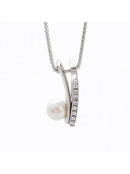 Náhrdelník s perlou a kameny Swarovski® Crystal