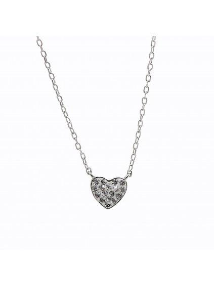 92300322crStříbrný náhrdelník Srdíčko Swarovski crystal