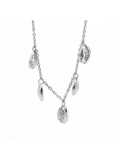 Náhrdelník s přívěšky mušle kauri Swarovski® Crystal 61300739cr