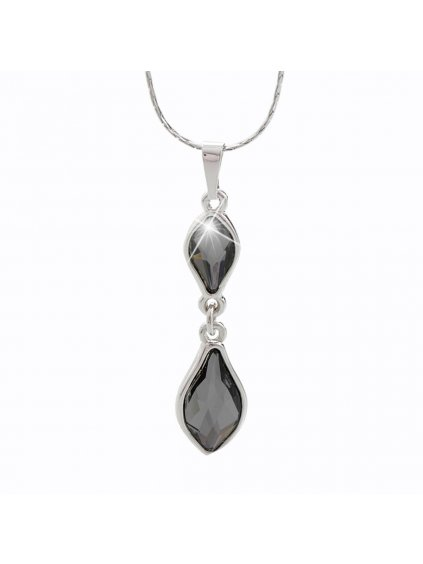Náhrdelník Flame s kameny Swarovski® Black diamond