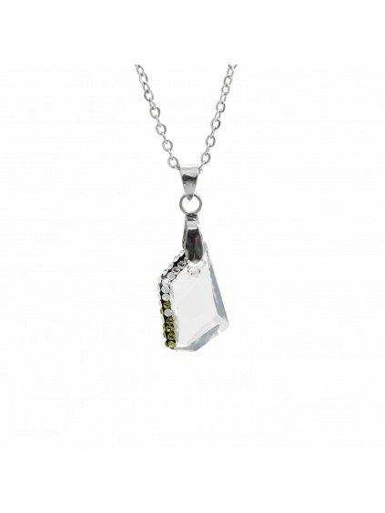 Náhrdelník Krystal Swarovski® Silver Shadow 18 mm 61300751ssh