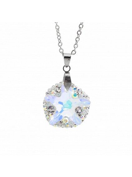 Náhrdelník Mořská hvězdice ponořena do kruhu Swarovski® Aurore Boreale 61300763ab