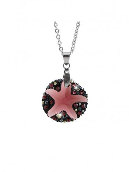Náhrdelník Mořská hvězdice ponořena do kruhu Swarovski® Red Magna 61300763rm