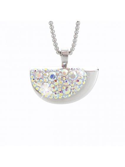 Náhrdelník Půlměsíc s kameny Swarovski® Crystal AB