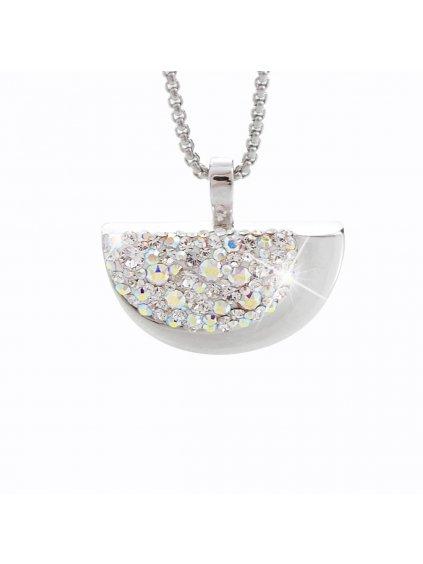 Náhrdelník Půlměsíc s kameny Swarovski® Crystal