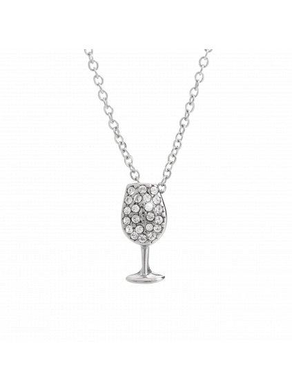 Náhrdelník Sklenička vína Swarovski® Crystal 61300821cr