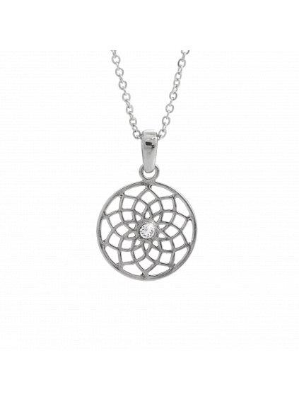 Náhrdelník Kružnicová květina Swarovski® Crystal 61300835cr