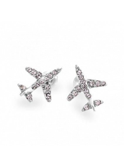 Náušnice Letadlo Swarovski® Crystal 61400717cr