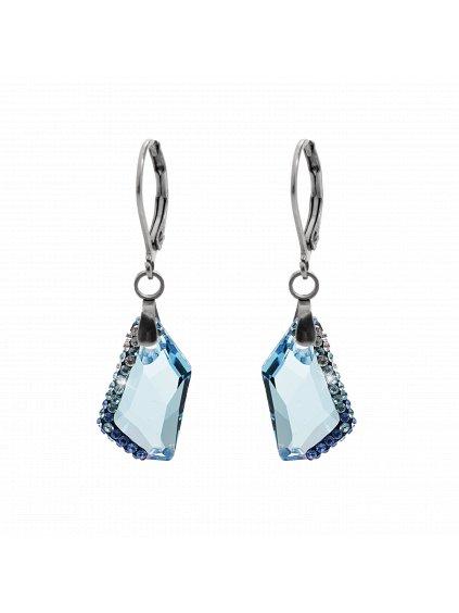 Náušnice Krystal Swarovski® Aquamarine 61400751aq