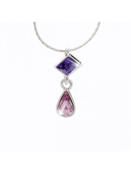 Náhrdelník s kameny Swarovski® Violet