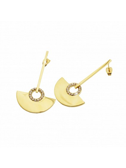 Ocelové náušnice Amfiteátr Swarovski® Golden Shadow Gold61400787g gsh