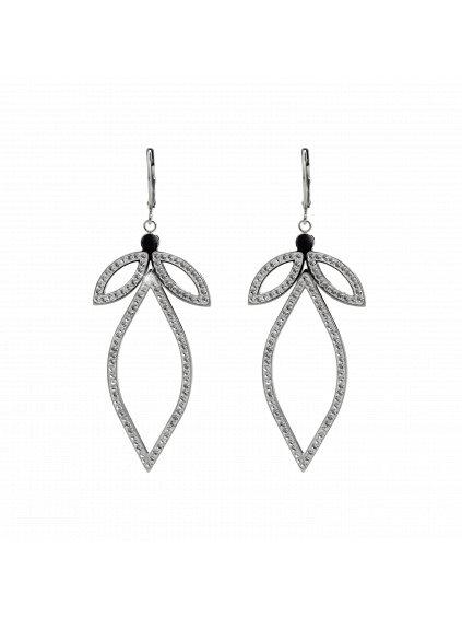 Ocelové náušnice Anděl Swarovski® Crystal 61400813cr