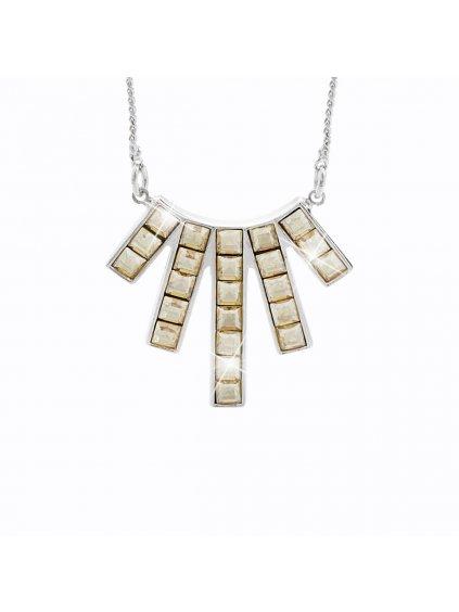 Náhrdelník Paprsky s kameny Swarovski® Gold