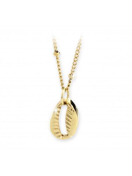 Náhrdelník Mušle kauri Swarovski® Crystal Gold 61300700g