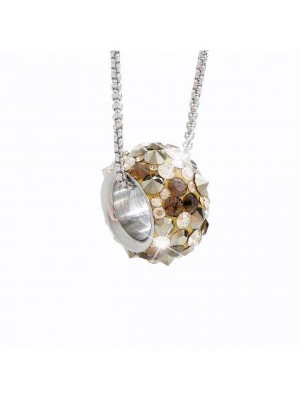 Náhrdelník Korálek s kameny Swarovski® Brown