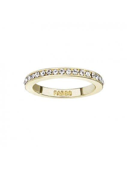 Prsten osázený kameny Swarovski gold