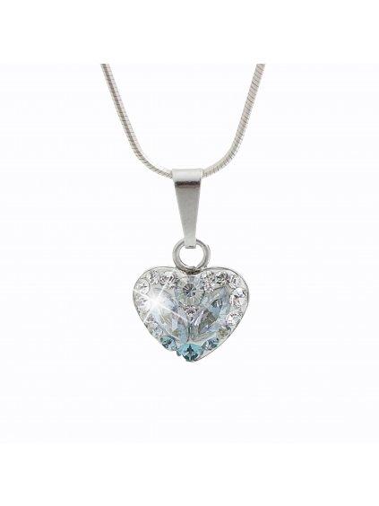 92300183iceStříbrný náhrdelník Srdce osázený kameny Swarovski ledové I.