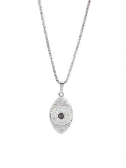 Náhrdelník Oko s kameny Swarovski® Crystal AB