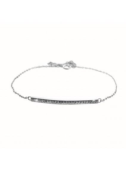 92500357crStříbrný náramek Linka Swarovski crystal