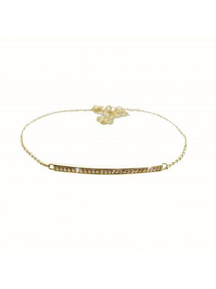 92500357gStříbrný náramek Linka Swarovski gold
