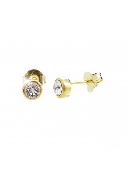 92400255gStříbrné náušnice Šatonek Swarovski crystal gold