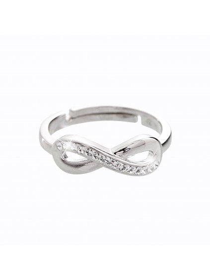 92700126crStříbrný prsten Nekonečno Swarovski crystal