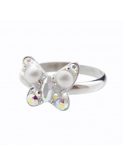 92700164ab+pStříbrný prsten Motýl Swarovski AB