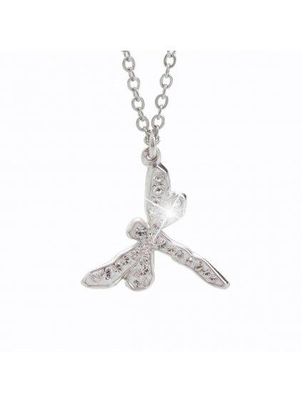 Náhrdelník Vážka s křišťálky Swarovski® Crystal