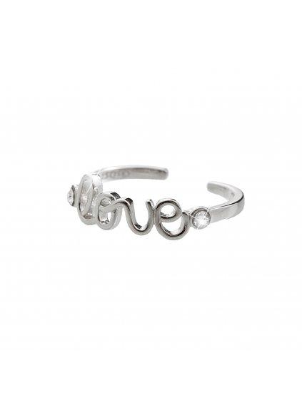 92700252crStříbrný prsten Love Swarovski crystal