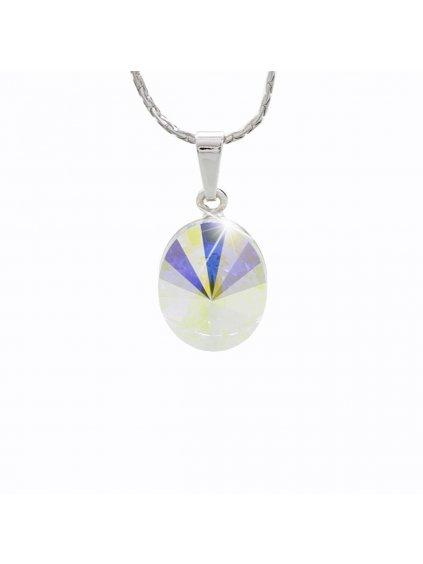 Náhrdelník Ovál s kameny Swarovski® Crystal AB