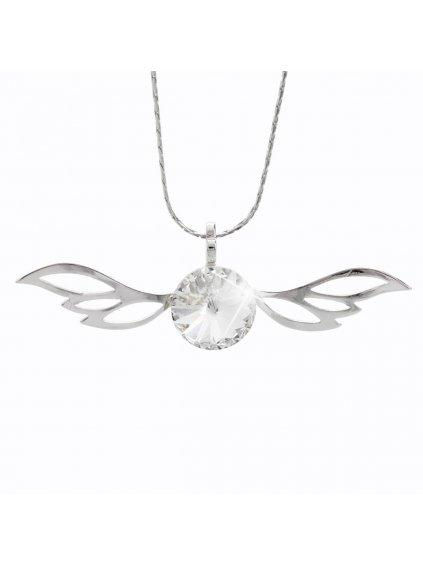 Náhrdelník Křídla rivola s kameny Swarovski® Crystal