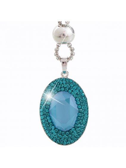 Náhrdelník Ovál s kameny Swarovski® Aquamarine
