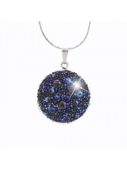 Náhrdelník Galucha s kameny Swarovski® Bermuda Blue