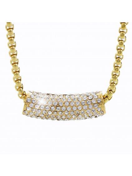 Náhrdelník Váleček Swarovski® Crystal Gold 61300534g