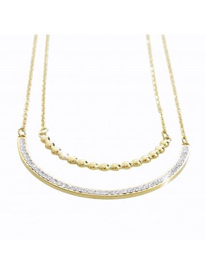 Náhrdelník River Swarovski® Crystal Gold 61300546g